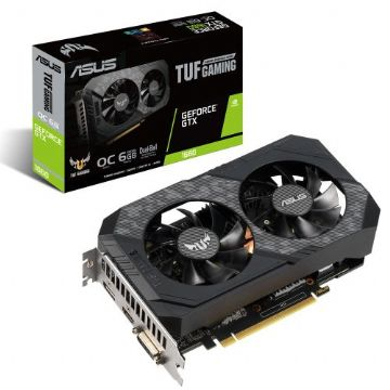 Asus TUF GAMING GTX1660 OC, 6GB DDR5, DVI, HDMI, DP